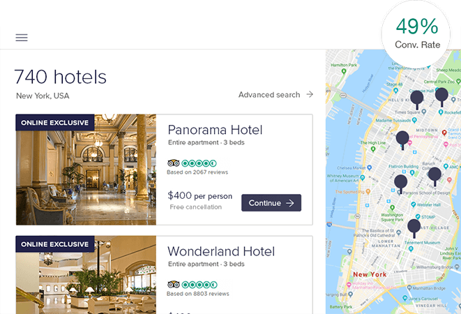 personalized booking experience