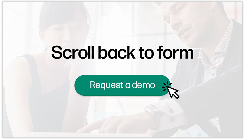 scroll back to form button